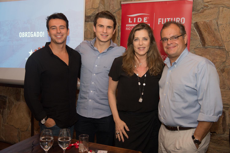 Tiago Melo, André Marinho, Andreia Repsold e Marcelo Torres